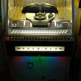 Musikbox, Jukebox Rock-Ola 1455 D, Deluxe, 200 Selections, Hifi, Bj. 1957